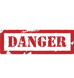 Rubber stamp with text danger vector