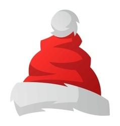 santa christmas hat royalty free vector image vectorstock rh vectorstock com christmas hat vector ai christmas hat vector png