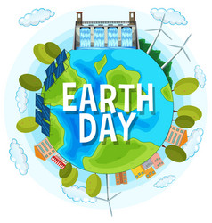 save planet earth day vector image