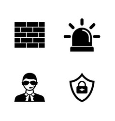 security safety simple related icons vector image