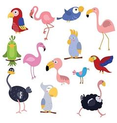 Set funny african birds vector