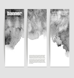 set three banners abstract headers with black vector image