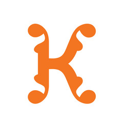sign of the letter k vector image