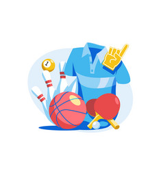 sports goods set vector image