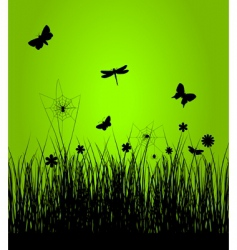spring silhoutte vector image