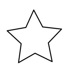 Star shape on white background vector