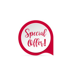 sticker special offer with shadow red colored vector image