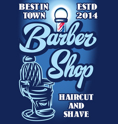 stylish poster for advertising barbershop with vector image