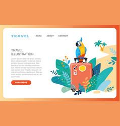 summer vacation travel destination nature vector image