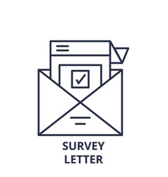 survey letter line icon concept survey letter vector image