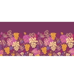 Sweet grape vines horizontal seamless pattern vector image