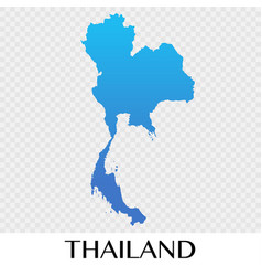 Thailand map in asia continent design vector