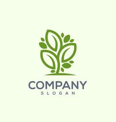 tree leaf logo vector image