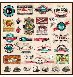 Vintage Restaurant Icons vector