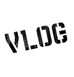 Vlog rubber stamp vector