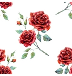 Watercolor rose pattern vector