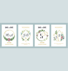 wedding posters luxury invitation card template vector image