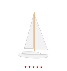 yacht it is icon vector image