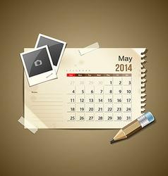Calendar May 2014 vector image