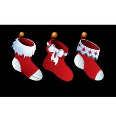 Cute Christmas Socks set - cartoon vector image