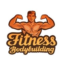 fitness logo gym sport or bodybuilding vector image