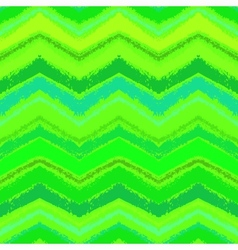 Hand drawn zigzag pattern in grass green vector image vector image