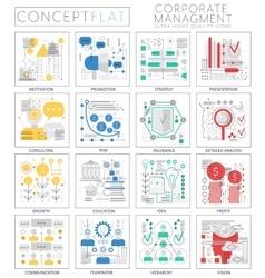 Infographics mini concept corporate managment vector image
