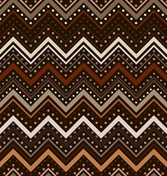 Zig zag pattern with lines and dots in brown tones vector image vector image