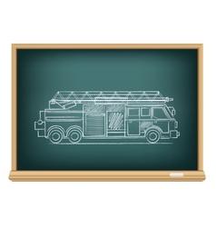 board fire truck vector image vector image