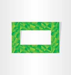 green polygons eco frame abstract background vector image