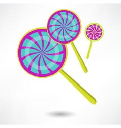 Colorful spiral lollipops vector image