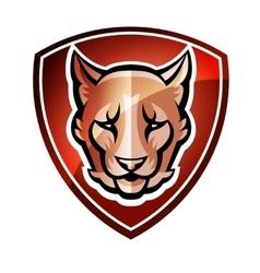 Mascot Shield vector image