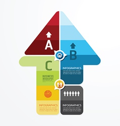 Modern Arrow Design infographic templatecan vector image