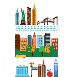 New york landmarks vector