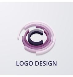 Stock 3d logo letter c vector image