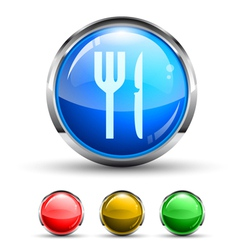 Dining Button vector image