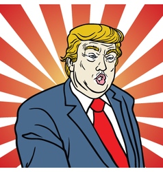 Donal Trump Caricature vector image vector image