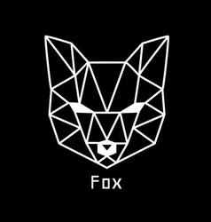 head of fox vector image vector image