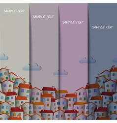 Layout design with colorful town vector image vector image