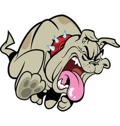 Sick Bulldog vector image