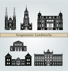 sosgnowiec landmarks vector image
