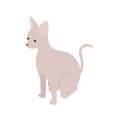 Sphinx cat icon isometric 3d style vector image vector image