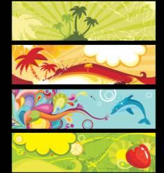 Summer banners vector
