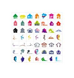 49 houses logo vector image