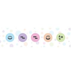 5 blocks icons vector