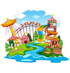a fun park landscape vector image