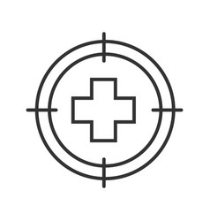aim on medical cross linear icon vector image