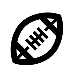 American football icon vector