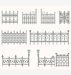 Antique fences - second set vector