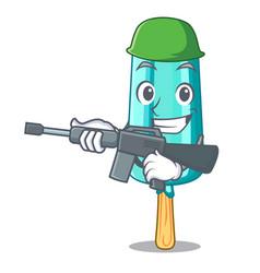 Army fruit ice cream on stick cartoon vector